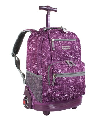 Love Purple Sunset Wheeled Backpack