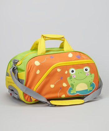 Orange Froggy Wheeled Duffel Bag