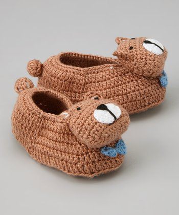 Brown Bear Crochet Booties