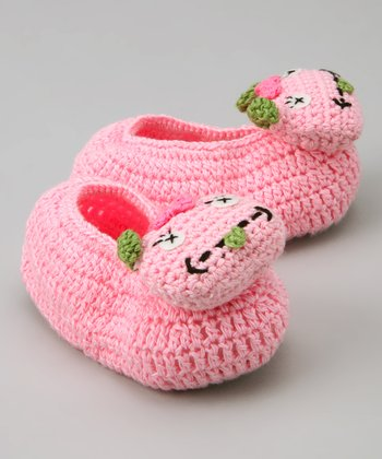 Pink Monster Girl Crochet Booties