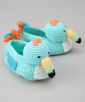 Tiffany Toucan Crochet Booties