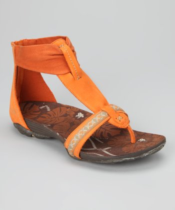 Orange Clover Gladiator Sandal - Women