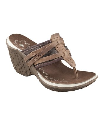 Brown Entwine Wedge Sandal - Women