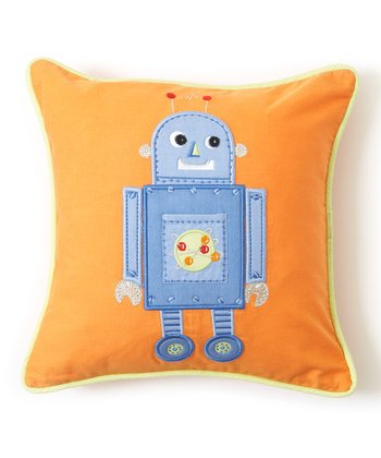 Blue Robot Tooth Fairy Pillow