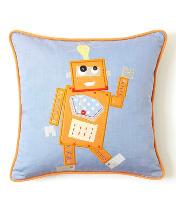 Orange Robot Tooth Fairy Pillow