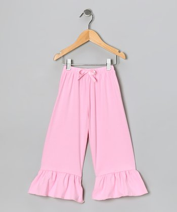 Light Pink Ruffle Pants - Toddler & Girls