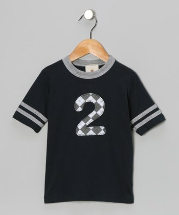 Navy '2' Tee - Toddler