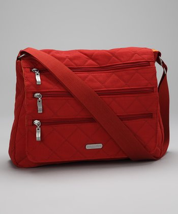 Tomato & Mango Quilted Messenger Bag