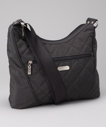 Charcoal & Fuchsia Drifter Shoulder Bag