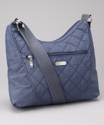 Steel Blue & Leaf Green Drifter Shoulder Bag