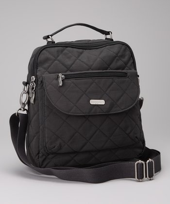 Charcoal & Fuchsia Quilted Explorer Backpack