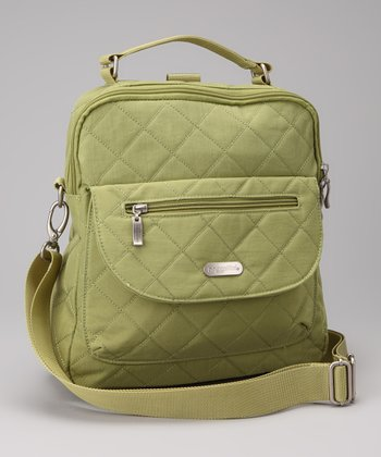 Leaf Green & Steel Blue Quilted Explorer Backpack