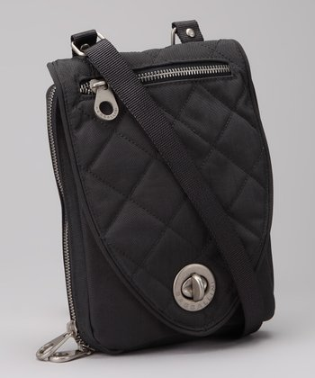 Charcoal & Fuchsia Geneva Crossbody Bag