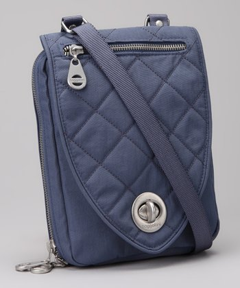 Steel Blue & Leaf Green Geneva Crossbody Bag