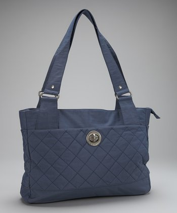 Steel Blue & Leaf Green Montreal Tote