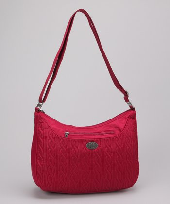 Cranberry Charm Crossbody Bag