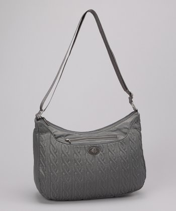 Pewter Charm Crossbody Bag