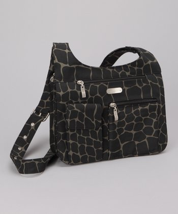 Dark Olive Giraffe City Crossbody Bag
