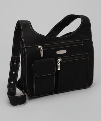 Black & Khaki City Crossbody Bag