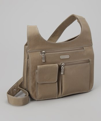 Khaki & Caspian Blue City Crossbody Bag