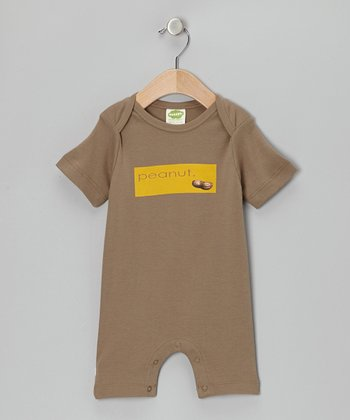 Brown 'Peanut' Organic Romper - Infant