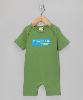 Green' Sweet Pea' Organic Romper - Infant