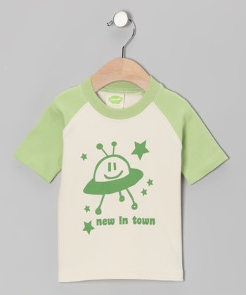 Cream & Green 'New in Town' Organic Tee - Infant & Toddler