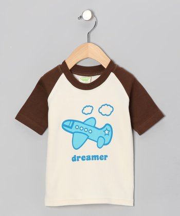 Natural & Brown 'Dreamer' Organic Tee - Toddler