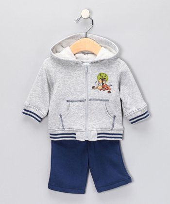 Northern Lights Pooh Zip-Up Hoodie & Pants