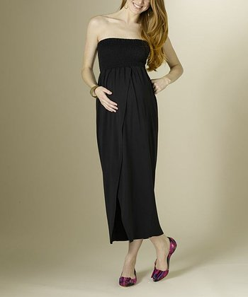 Black Maternity Maxi Dress