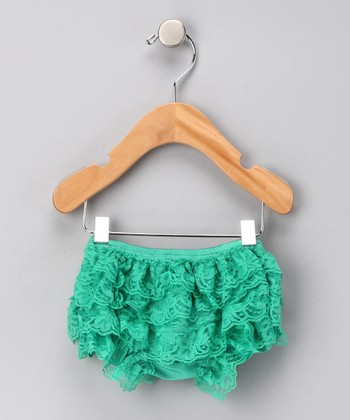 Kelly Green Lace Ruffle Bloomers - Infant & Toddler