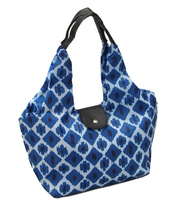 Blue Ikat Paris Lunch Tote