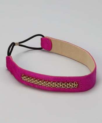 Fuchsia Caspian Chain Head Wrap