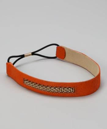 Orange Caspian Chain Head Wrap