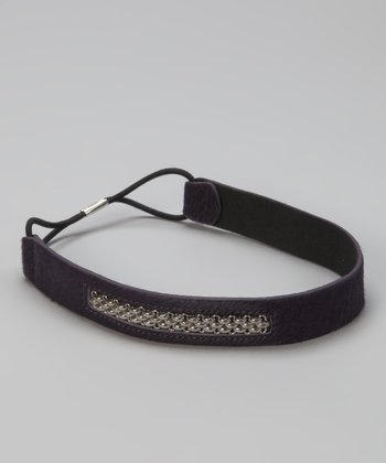 Purple Caspian Chain Head Wrap