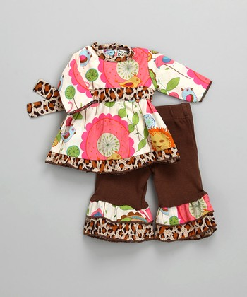 Pink & Brown Zoo Doll Outfit