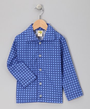 Blue Button-Up Shirt - Infant, Toddler & Boys