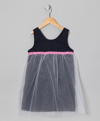 Navy Ballerina Dress - Infant, Toddler & Girls