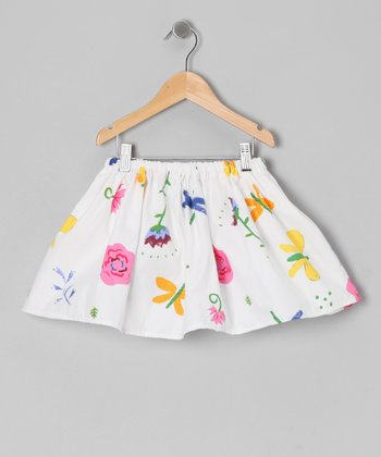 White Dragonfly Butterfly Skirt - Infant & Toddler