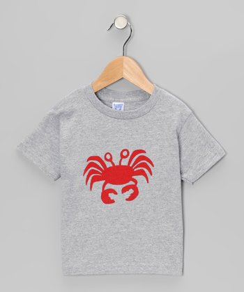 Gray & Red Crab Tee - Infant, Toddler & Boys