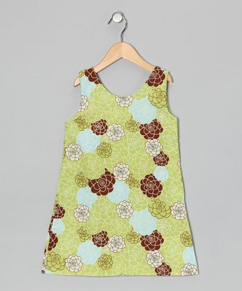 Green Floral Dress - Infant & Toddler