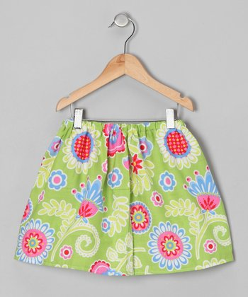 Lime Floral Skirt - Infant & Toddler