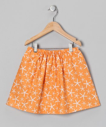 Orange Starfish Skirt - Infant