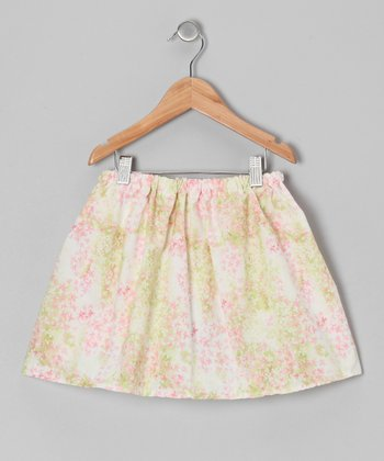 Pink & Green Floral Skirt - Infant, Toddler & Girls