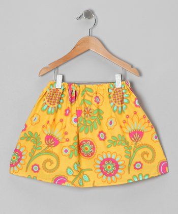 Yellow Floral Skirt - Infant & Toddler