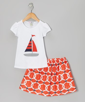 Orange Rigging Tee & Skirt - Toddler & Girls