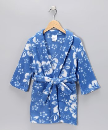 Light Blue Hawaiian Robe - Toddler & Kids
