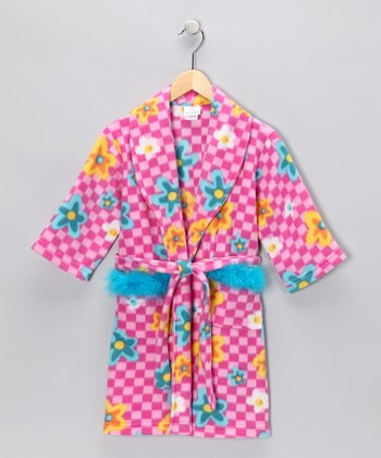 Pink Floral Robe - Girls