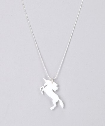 White Unicorn Necklace