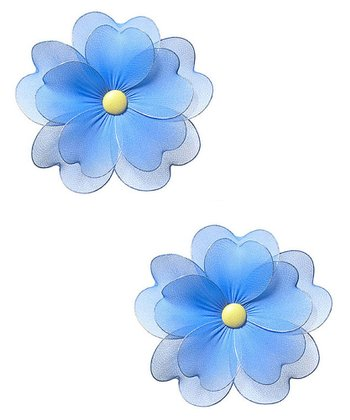 Blue Multilayer Hanging Flower - Set of Two